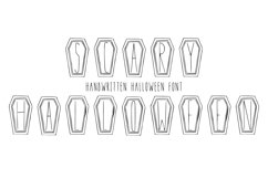Scary Halloween handwritten font in ttf, otf Product Image 1