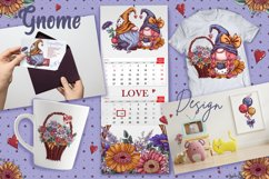 Gnomes, love and flowers. Hand-drawing clipart. Product Image 7