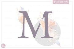MONOGRAM Letter M Elegant Floral Monogram - Flower alphabet Product Image 2