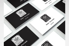 Business Cards with typewriters Product Image 8