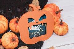 Halloween Jack O Lantern Foldable Invitation cutting file Product Image 2