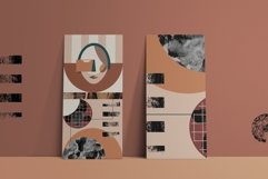 Abstract modern geometric faces. Patterns and graphics Product Image 6