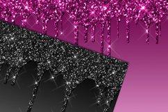 Dark Dripping Glitter Digital Paper Product Image 2