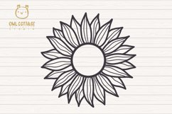 Cute Sunflower svg, Sunflower svg, Sunflower clipart Product Image 3