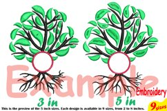 Family Tree Circle Embroidery Design Machine Instant Download Commercial Use digital Outline family love Frame Deep Roots Branches 206b Product Image 4