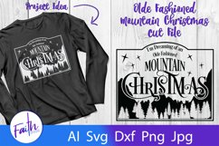 Mountain Christmas Svg Cut File Product Image 1