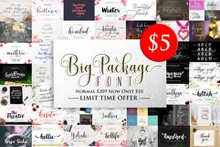 BIG PACKAGE - Font Bundle Collection Product Image 1