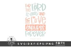 His Love Endures Forever SVG | Bible Verse SVG Cut File Product Image 1