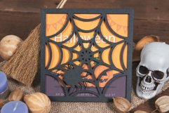 Spider Web Halloween Invitation cutting file Product Image 2