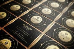 Gold And Black Business Card Product Image 3