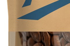 Kraft Paper Bag Stand up Pouch Doypack with Clear Window Mockup Product Image 4