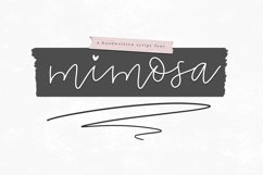Mimosa - Handwritten Script Font Product Image 1