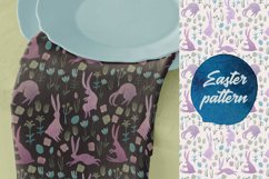 Seamless watercolor pattern with easter bunnies Product Image 3