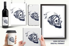 Human skull tattoo Product Image 6