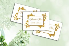 Gold Thank You Card Template, instan download, DAD_09 Product Image 1