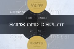 18in1 Sans and Display font bundle | Volume 1 Product Image 1