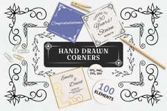 100 Hand Drawn Ornate Corners and Borders Product Image 1