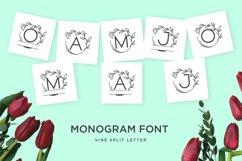 monogram vine letter for crafter Product Image 1