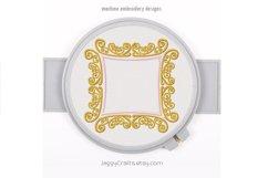 Royal Square Applique Monogram Font Border Frame Product Image 1