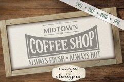 Coffee Shop Kitchen SVG DXF File Product Image 1