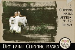 Dry Paint Photoshop Clipping Masks & Tutorial Product Image 1