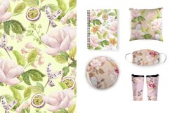 Watercolor flowers,exotic fruits. Product Image 4