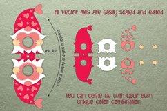 Gnome Lollipop Holder - Valentines Template SVG Product Image 2