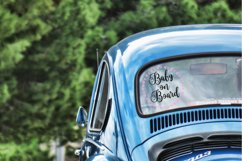 Baby on board svg   Baby Bear on board svg   Car Decal svg Product Image 2