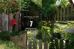 Village fence digital photo backdrop, farm backdrop Vol3 Product Image 1
