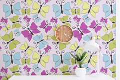 Butterfly seamless pattern, stripe digital paper Product Image 6