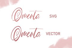 Omerta | Classy SVG Font Product Image 4
