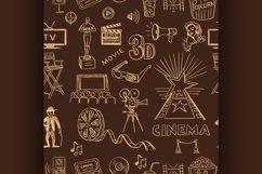 Hand drawn cinema pattern Product Image 1