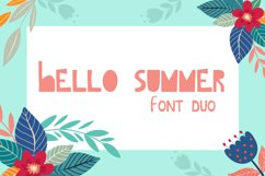 Hello Summer Cutout Font Product Image 1