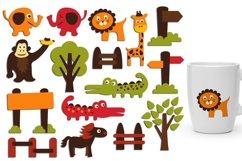 Alphabet animals, zoo, woodland - Graphics Bundle Product Image 4