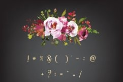 Mettalic letters, Wedding fonts, Golden lettering Product Image 5