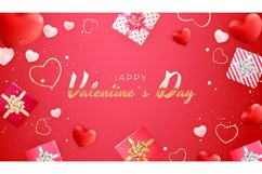 Valentine's Day Background Template Card Design Product Image 8