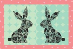Cute floral Easter bunny. Product Image 4