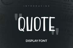 Web Font Quote Font Product Image 1