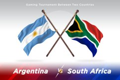Argentina vs South Africa Two Flags Product Image 1