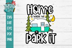 Home Is Where You Park it Hitch Camper SVG Product Image 2