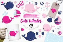 Nautical Whales graphics and illustrations Product Image 1