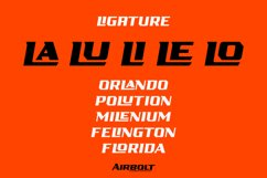 AIRBOLT - FUTURISTIC RACING FONT Product Image 4
