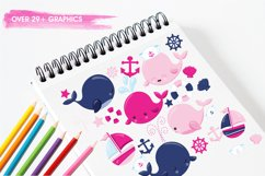 Nautical Whales graphics and illustrations Product Image 3
