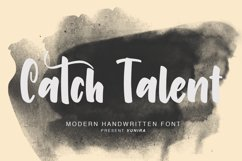 Catch Talent   Modern Handwritten Font Product Image 1
