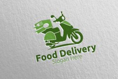 Scooter Fast Food Delivery Logo 7 Product Image 3