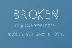 Broken handwritten font in ttf, otf Product Image 2