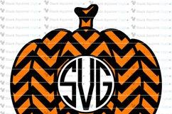 Pumpkin Monogram and Split Frames SVG Bundle Product Image 3