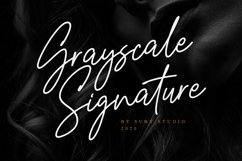 Grayscale Signature Product Image 1