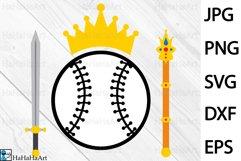 King Baseball Design - Clip art / Cutting Files 1334c Product Image 1