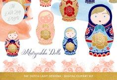 Russian Matryoshka Doll Clipart Product Image 1